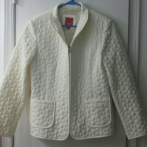 Wonderful cream colored quilted jacket